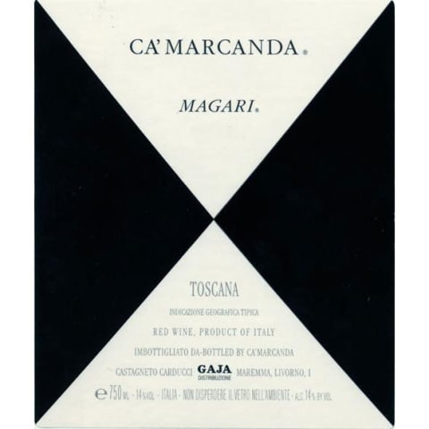 Gaja Ca'Marcanda Magari (375ML half-bottle) 2012 Front Label