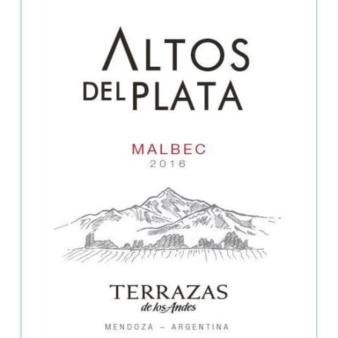 Terrazas De Los Andes Altos Del Plata Malbec 2016