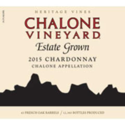Chalone Estate Chardonnay 2015 Front Label