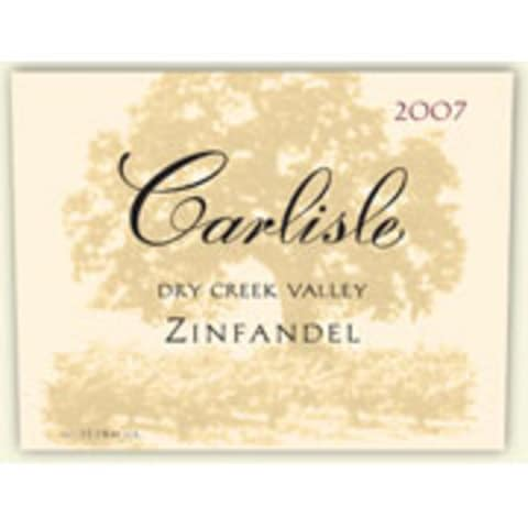 Carlisle Dry Creek Valley Zinfandel 2007 Front Label