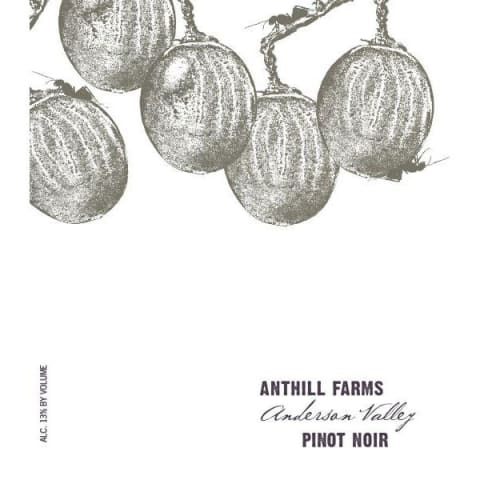 Anthill Farms Anderson Valley Pinot Noir 2015 Front Label
