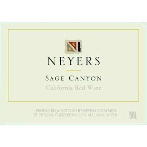 Neyers Sage Canyon Red 2016 Front Label