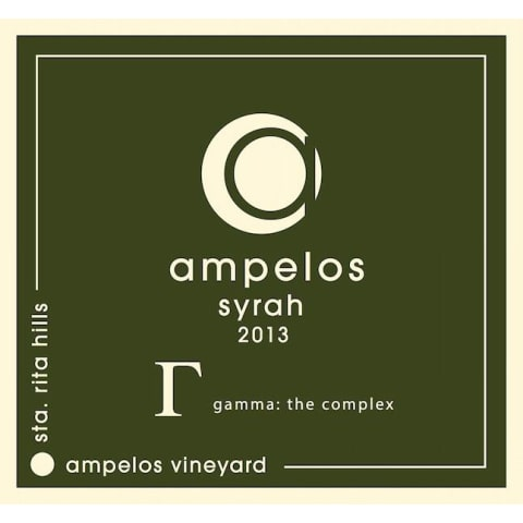 Ampelos Cellars Gamma: The Complex Syrah 2013 Front Label