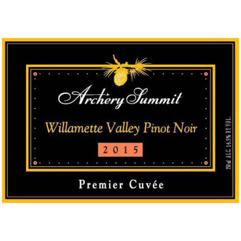 Archery Summit Premier Cuvee Pinot Noir 2015 Front Label