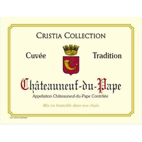 Cristia Collection Chateauneuf-Du-Pape Cuvee Tradition 2015 Front Label