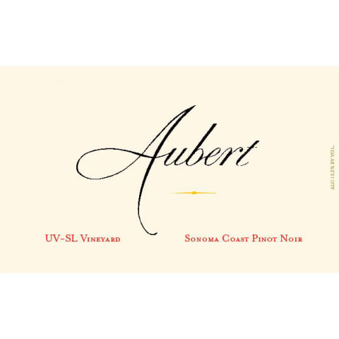 Aubert UV-SL Vineyard Pinot Noir 2015 Front Label