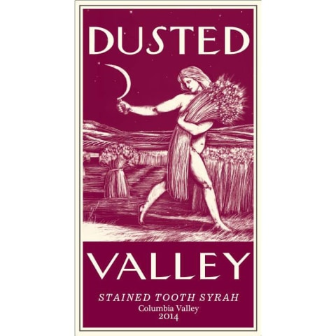 Dusted Valley Stained Tooth Syrah 2014 Front Label