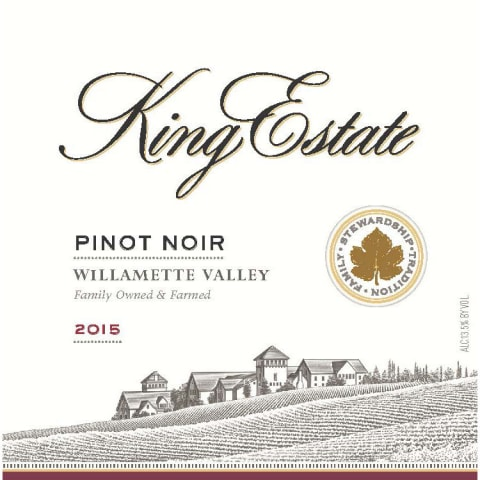 King Estate Willamette Valley Pinot Noir 2015 Front Label