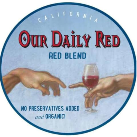 Our Daily Red Blend 2017 Front Label
