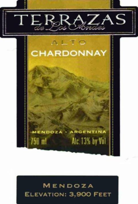 Terrazas De Los Andes Alto Chardonnay 2015