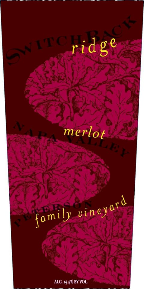 Switchback Ridge Peterson Family Vineyard Merlot 2013 Front Label