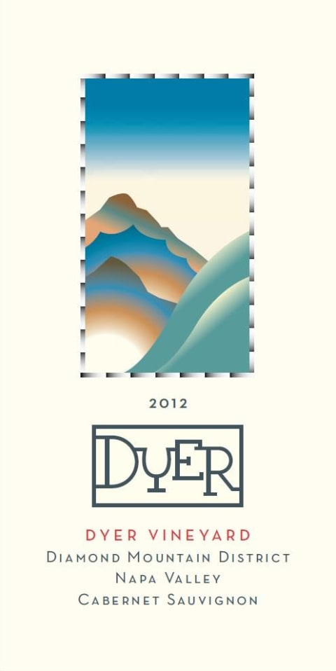 Dyer Vineyard Cabernet Sauvignon 2012 Front Label