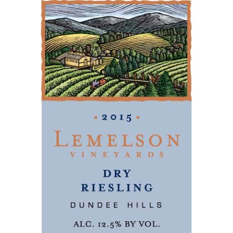Lemelson Dry Riesling 2015 Front Label