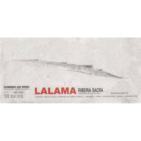 Dominio do Bibei Ribeira Sacra Lalama 2013 Front Label