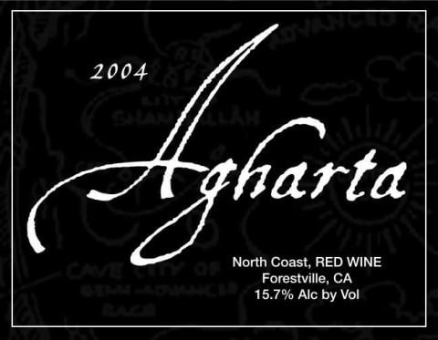 Agharta Black Label Red 2004 Front Label