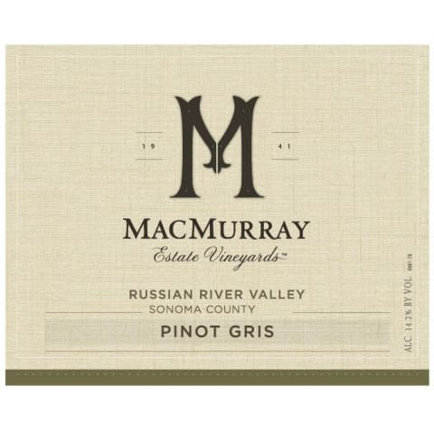 MacMurray Ranch Russian River Pinot Gris 2016 Front Label