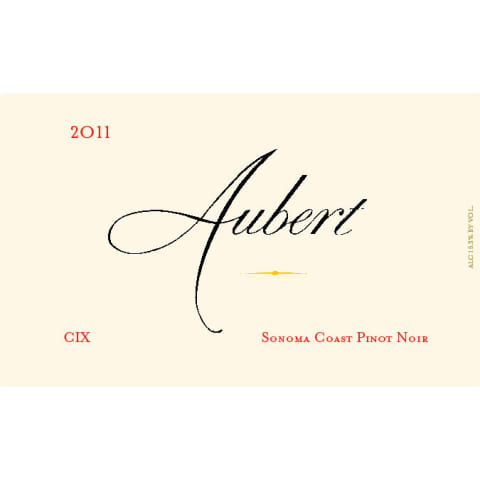 Aubert CIX Vineyard Pinot Noir (1.5L Magnum) 2011 Front Label