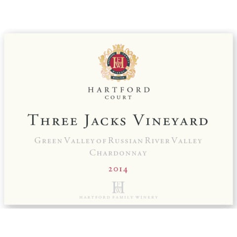 Hartford Court Three Jacks Chardonnay 2014 Front Label