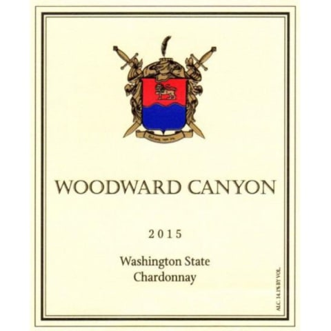 Woodward Canyon Chardonnay 2015 Front Label