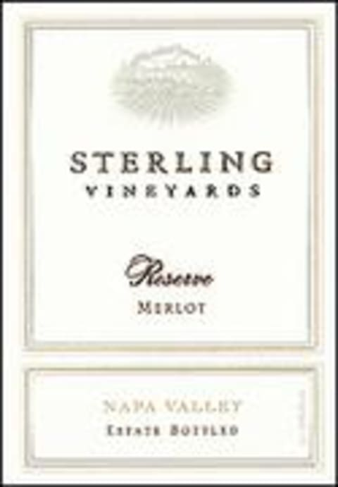 Sterling Reserve Merlot 1997 Front Label