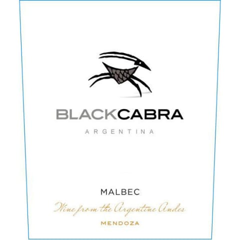 Black Cabra Malbec 2017 Front Label