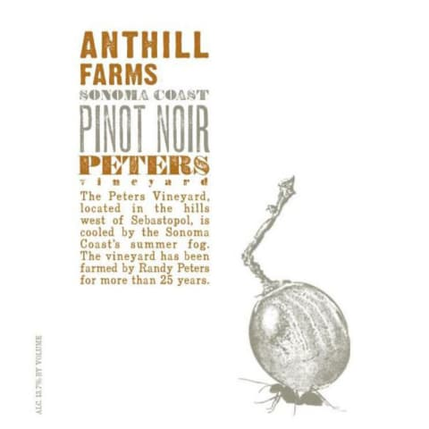 Anthill Farms Peters Vineyard Pinot Noir 2016 Front Label