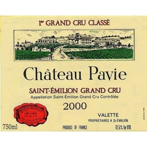 Chateau Pavie  2000 Front Label
