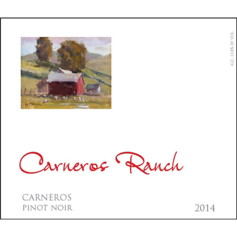 Carneros Ranch Pinot Noir 2014 Front Label