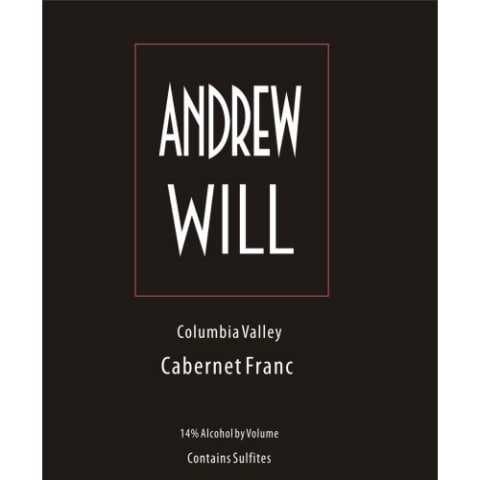 Andrew Will Winery Cabernet Franc 2016 Front Label