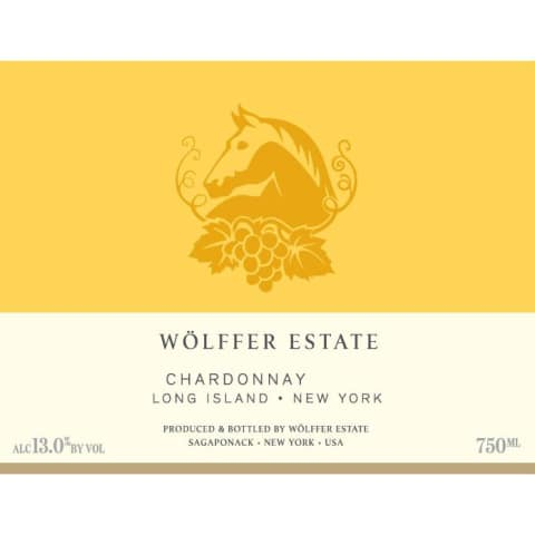 Wolffer Estate Chardonnay 2017 Front Label