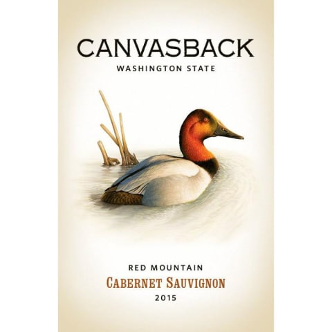 Canvasback Red Mountain Cabernet Sauvignon 2015 Front Label