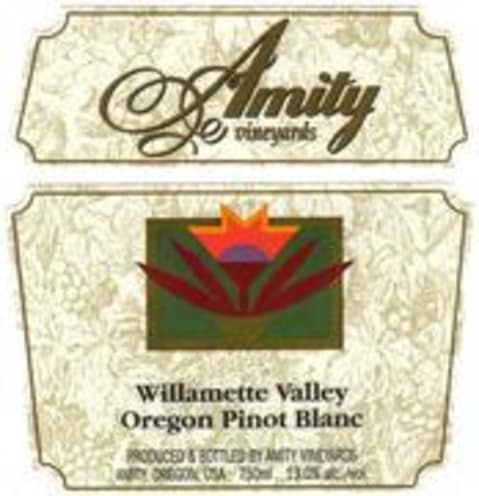 Amity Pinot Blanc 2000 Front Label