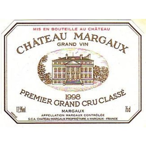 Chateau Margaux  1998 Front Label