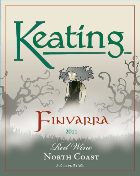 Keating Wines Finvarra 2011 Front Label