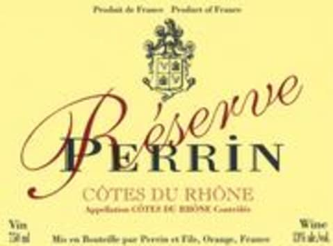 Famille Perrin Reserve Cotes du Rhone Rouge 2000 Front Label