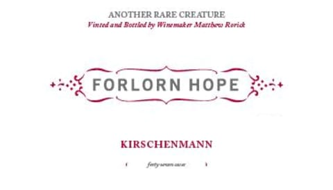Forlorn Hope Kirschenmann Pinot Gris 2014 Front Label