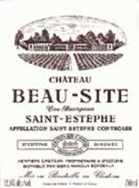 Chateau Beau-Site Saint-Estephe 1999 Front Label