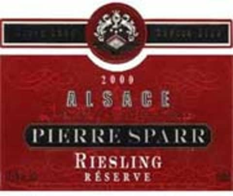 Pierre Sparr Reserve Riesling 2000 Front Label