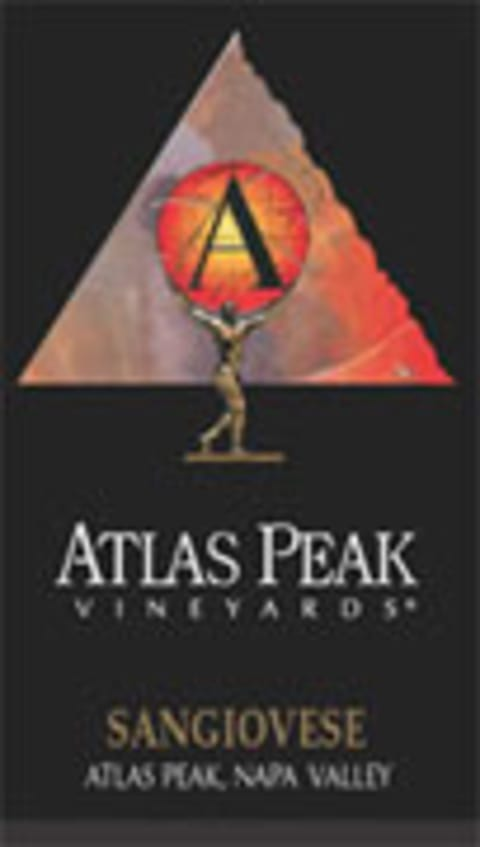 Atlas Peak Sangiovese 2000 Front Label