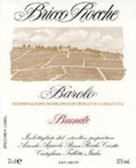Ceretto Brunate Barolo 1998 Front Label