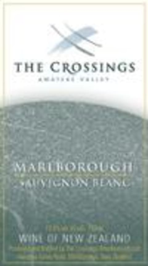 The Crossings Sauvignon Blanc 2001 Front Label