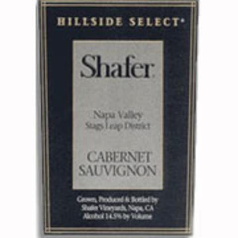 Shafer Hillside Select Cabernet Sauvignon 1998 Front Label