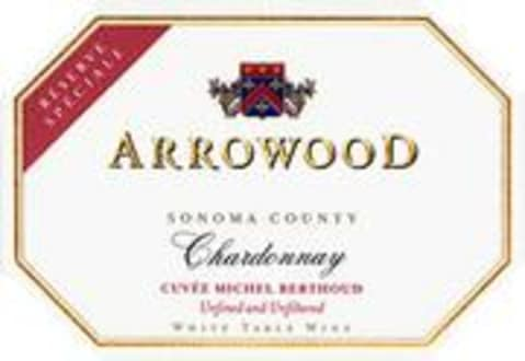 Arrowood Reserve Speciale Chardonnay 2000 Front Label