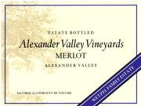 Alexander Valley Vineyards Merlot (half-bottle) 1997 Front Label
