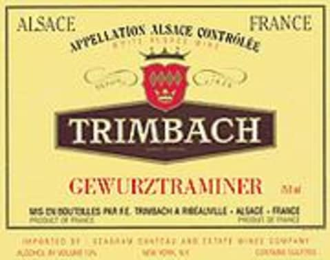 Trimbach Gewurztraminer 2000 Front Label