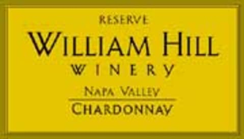 William Hill Reserve Chardonnay 2000 Front Label