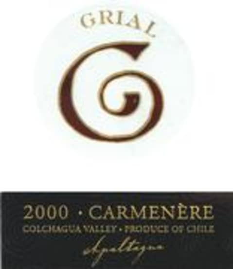 Apaltagua Grial Carmenere 2000 Front Label