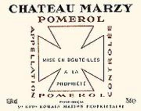 Chateau Marzy Pomerol 2000 Front Label