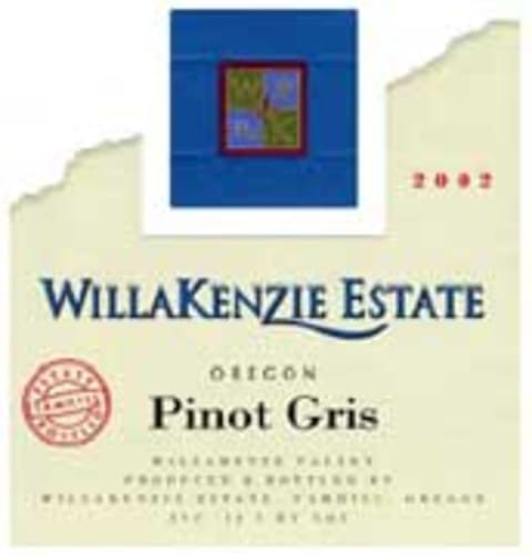 WillaKenzie Estate Pinot Gris 2001 Front Label