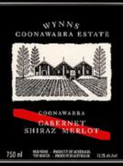 Wynns Coonawarra Estate Cabernet Shiraz Merlot 2000 Front Label